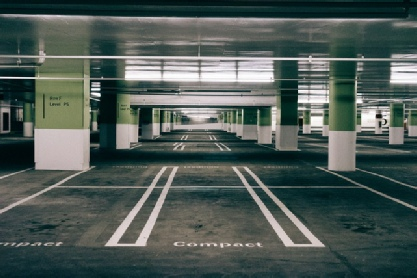 An empty north east car park